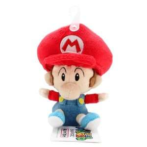 5 Official Sanei Baby Mario Soft Stuffed Plush Super