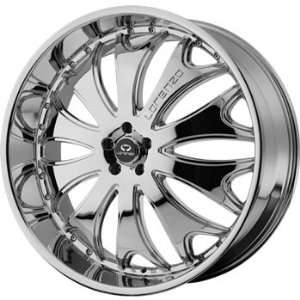 Lorenzo WL029 26x9.5 Chrome Wheel / Rim 6x5.5 with a 35mm Offset and a