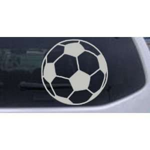 Soccer Ball Sports Car Window Wall Laptop Decal Sticker    Silver 3in