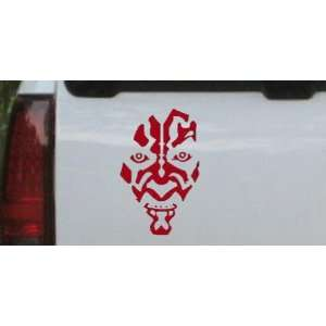 5.5in X 8.5in Red    Star Wars Darth Maul Car Window Wall