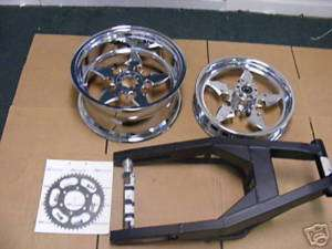 GSXR Hayabusa 240 Fat wide tire Kit zx14 cbr R1 300 330