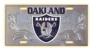 NEW OAKLAND RAIDERS NFL OFFICIAL 3D LICENSE PLATE COVER