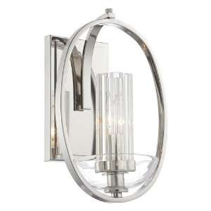 Polished Nickel Wall Sconce with Eidolon Krystal Glass Shade 6690 613