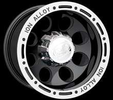 15 Ion Alloy 174 Black Wheels Simulated Beadlock 15x10