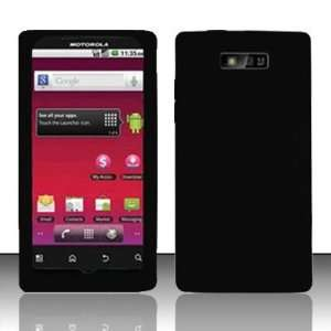 PREMIUM Black Silicon Skin Case For Motorola Triumph WX435