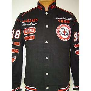 WSSU Rams Heavyweight Cotton Racing Style Snap up jacket Sports