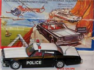 1977 DINKY PLYMOUTH POLICE CAR MIB. CAR IN NEAR MINT UNPLAYED WITH