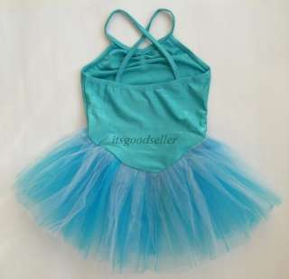 Color Girl Leotard Ballet Tutu Dance Dress SZ 4 6 8YR