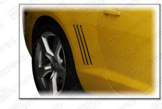 Chevy Camaro 2010 2011 Side Vent Inserts Stripes Decals