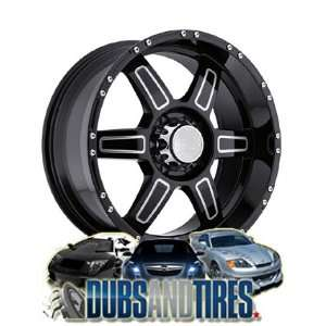 18 Inch 18x9 Black Rhino wheels Borrego Gloss Black w/Milled SPOKES