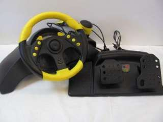 MC2 Racing Steering Wheel & Pedals for PlayStation Xbox GameCube 8433