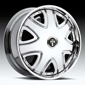 SPIN Bandito Chrome WHEEL SET 28x10 5 & 6 LUG RWD Spinners RIMS 28inch