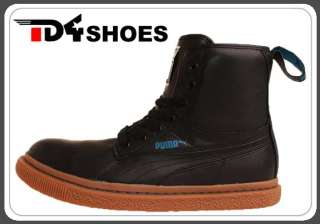 Puma Dr Clyde L Mashup WTR Black Leather Brown 2011 Mens Casual Boots