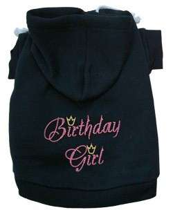 Dog Pet Puppy Birthday Girl Jacket Clothes Coat Hooded