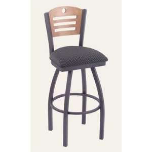 Voltaire 36 Extra Tall Swivel Barstool Metal Finish Anodized