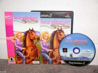BARBIE HORSE ADVENTURE WILD HORSE CIB Playstation 2 PS2 020626720557
