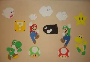 Super Mario Bros Wallies 3D Mario Luigi Bullet clouds