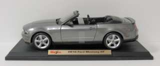 2010 Ford Mustang GT Diecast Model Car   Maisto   118 Scale   Gray