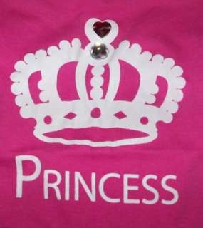 Valentine Crown Pink Bling PRINCESS puppy dog t shirt clothes