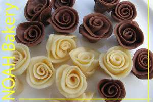 Chocolate Roses birthday wedding edible cake cupcake topper 10