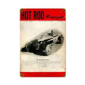 Hot Rod Magazine Premier Issue Vintage Metal Sign Small