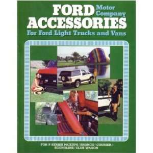 1980 FORD TRUCK Accessories Sales Brochure Book