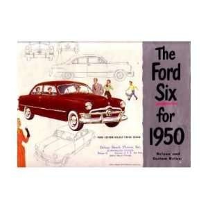 1950 The Ford 6 Sales Brochure Literature Book Piece