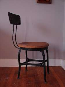 MACHINE AGE TOLEDO UHL DRAFTING STOOL CHAIR ANTIQUE PRIMITIVE