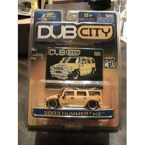 Jada Toys Dub City Series 2003 Hummer H2 Yellow Collector # 083