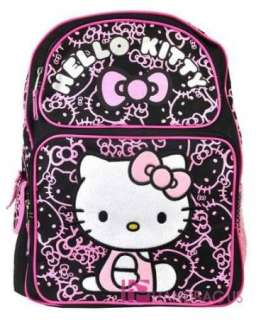 Sanrio HELLO KITTY School Backpack 16 LARGE Bag   Black Pink Kitty
