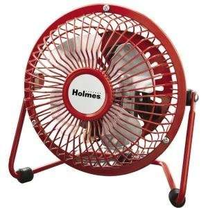 NEW Holmes 4 Mini Fan Red (Indoor & Outdoor Living