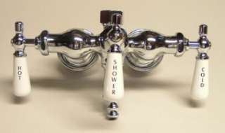 CLAWFOOT TUB ANTIQUE STYLE CHROME DIVERTER FAUCET