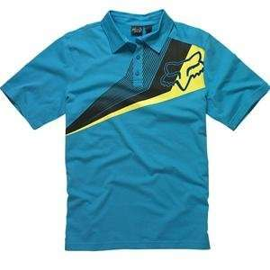 Fox Racing Alliance Polo   Medium/Electric Blue Automotive