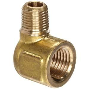 Anderson Metals Brass Pipe Fitting, Forged Reducing Street Elbow, 1/4