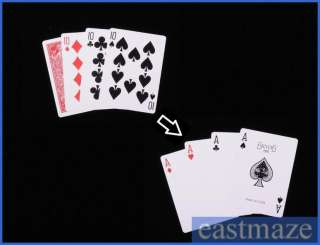 Magic Trick Toy Tool   4 Cards Magic   SEE DEMO
