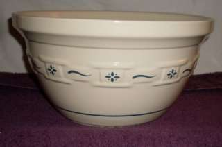 LONGABERGER Woven Traditions Blue Pottery MIXING BOWL Large HTF 10
