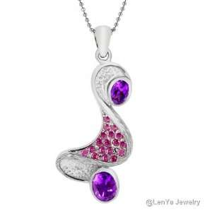 LenYa Special   Unique and uncommon design, Mothers Day Rhodium Plated