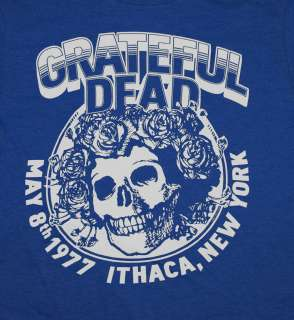 Grateful Dead Ithaca New York 1977 Concert Rock Band Soft T Shirt Tee