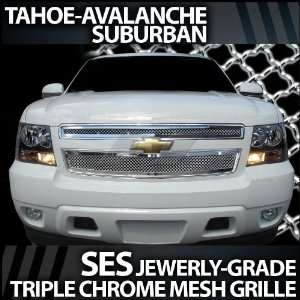 2007 2012 Chevy Tahoe Suburban SES Chrome Mesh Grille