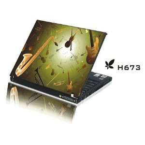 15.4 Laptop Notebook Skins Sticker Cover H673 Musical