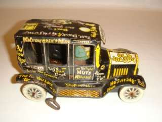 VINTAGE MARX TIN LITHO OLD JALOPY WIND UP TOY CAR