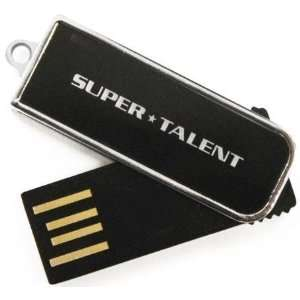 PEN DRIVE FLASH DRIVE BLACK/CHROME   WORLDS SMALLEST SUPER TALENT
