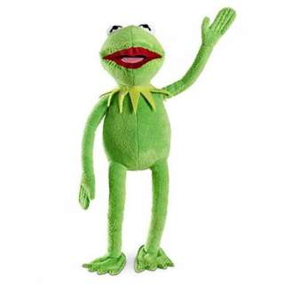 Authentic Original The Muppets Kermit Frog 2011 Toy Plush
