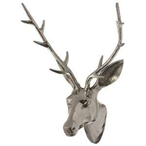 Aluminum Deer Stag Head   Wall Mount Trophy Gift