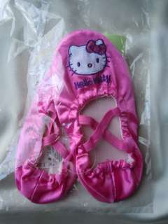Girls Hello Kitty Pink Dancewear Ballet Dance Shoes Slippers
