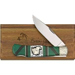 Brian Yellowhorse Knives 131 Custom Queen Mountain Man Lockback Knife