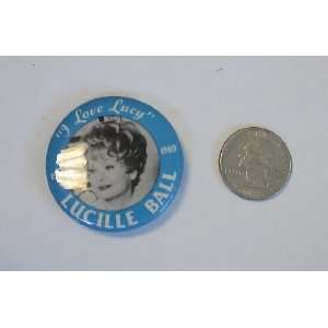I Love Lucy Lucille Ball Vintage Button