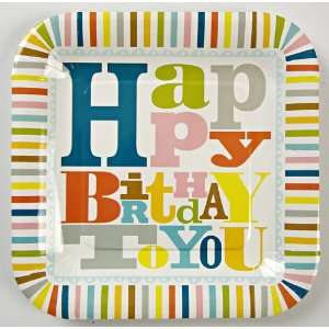 Meri Meri Happy Birthday Patterned Plates Toys & Games