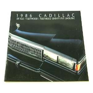 1986 86 CADILLAC BROCHURE Deville Fleetwood Everything