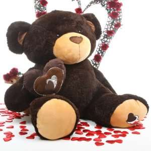 Sugar Pie Big Love Super Huge Chocolate Brown Teddy Bear